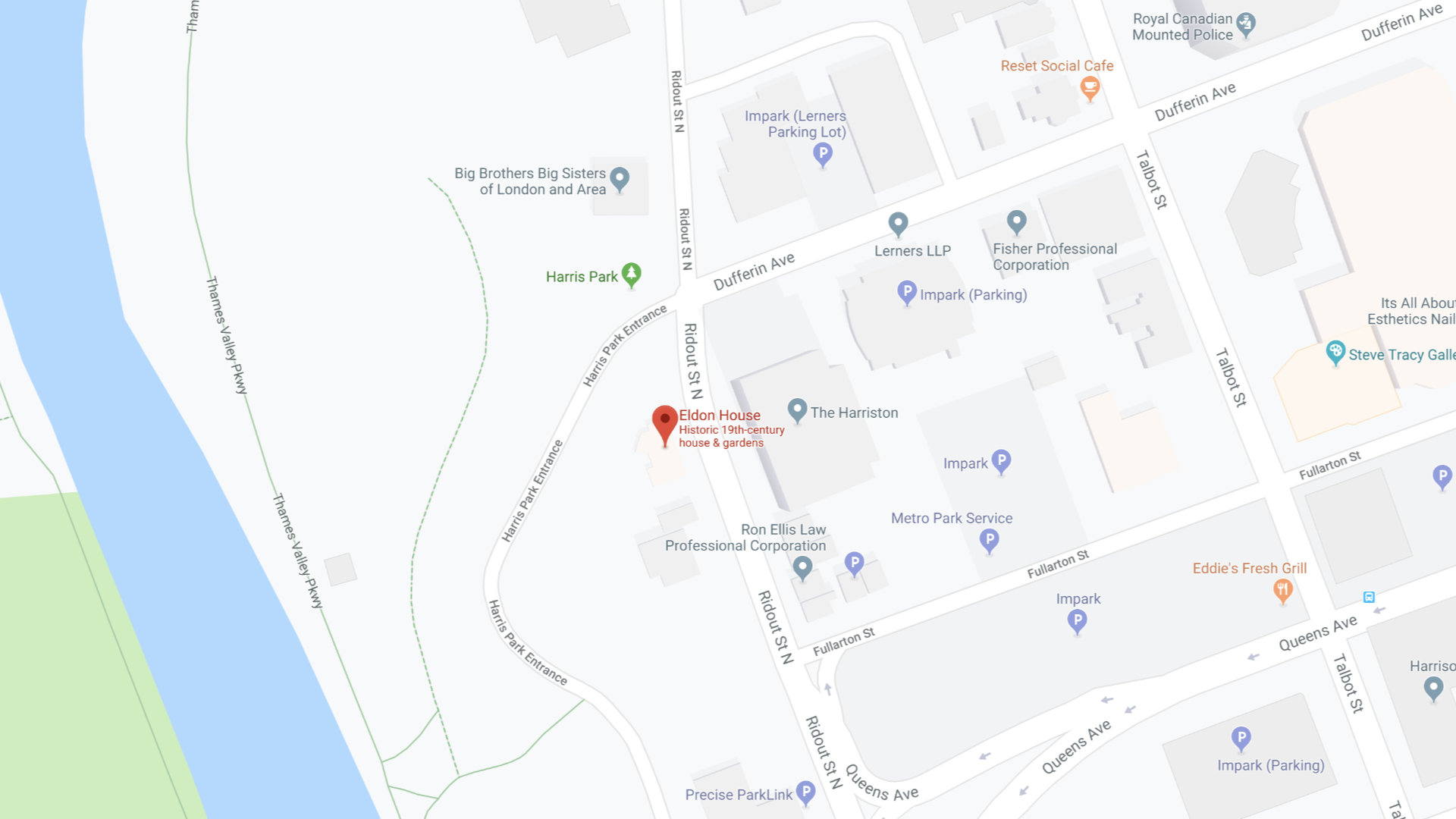 Eldon House Map