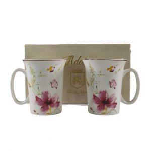 Set of 2 Floral Mugs