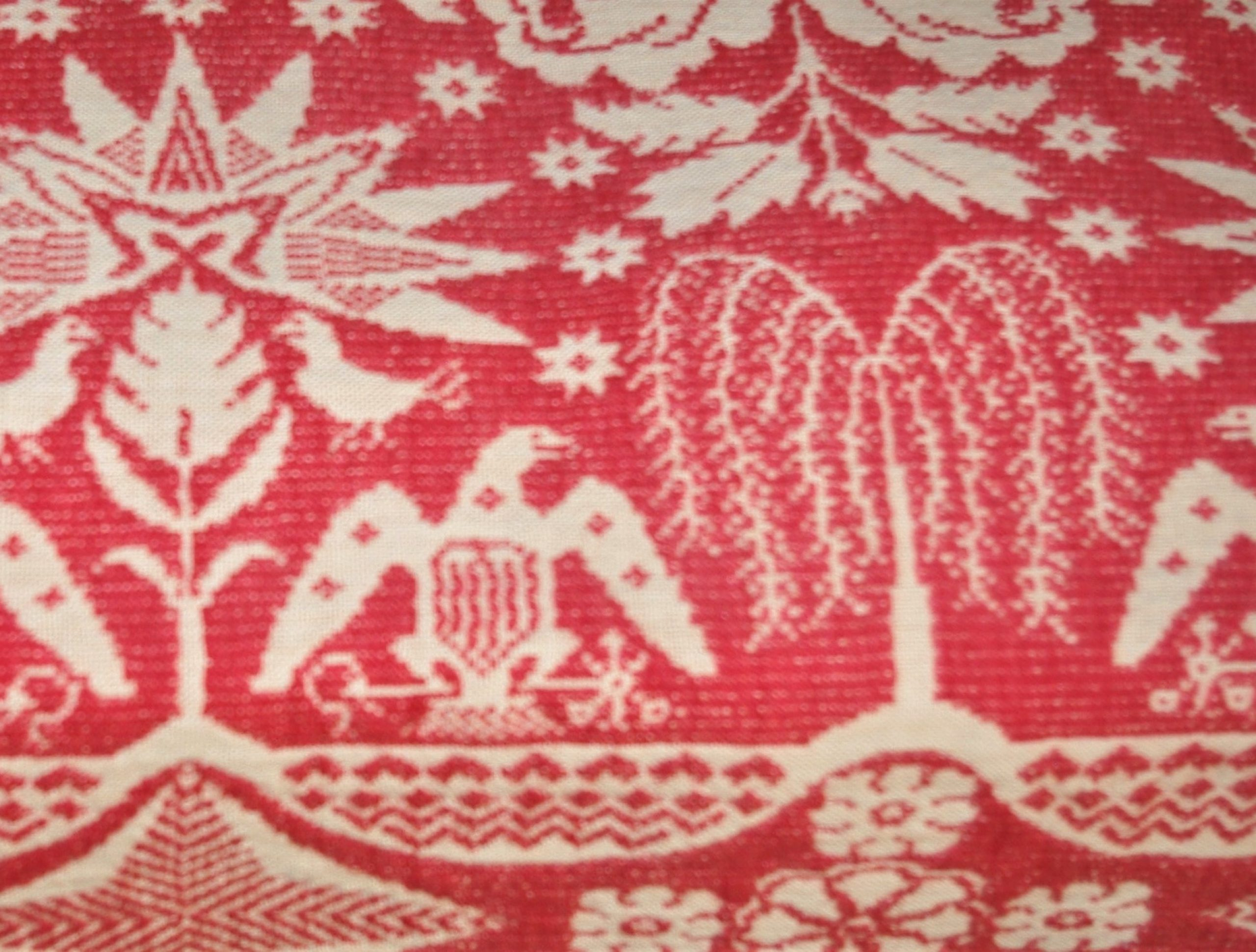 Cambell red coverlet, detail